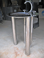 Unitized Stainless Lavatory Sink